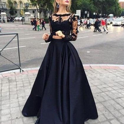 black floor length homecoming dress..
