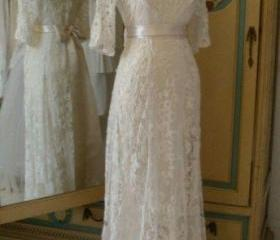 A line lace wedding ..