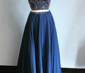 Dark Navy Two Piece ..