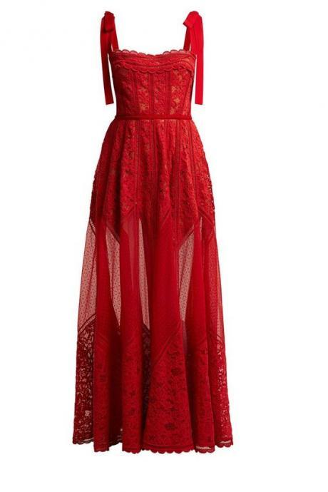 Red Spaghetti Sleeveless Homecoming Dresses,Simple A-Line Tulle Evening Dresses.R283