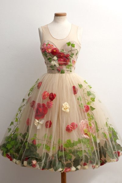 Pretty Stereo Flower Tulle Homecoming Dresses,Charming A-line Sleeveless Homecoming Dresses.PH1528